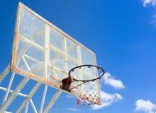 Обруч и сеть баскетбола Стоковое Изображение
