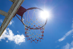 Обруч и сеть баскетбола Стоковое фото RF