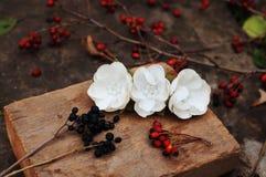 Обруч от цветков, венок с покрашенными цветками Handmade венок цветков на внешней стойке металла доступную Искусственные цветки,  стоковые фотографии rf