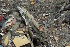 Обрушенные и разрушенные руины здания от бедствия стоковые фото