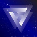 Обрядовая геометрия колец Borromean Valknut, сраженные ратники Символ состоя из 3 блокировать треугольников на космическом бесплатная иллюстрация