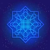 Обрядовая диаграмма геометрии в космическом небе Стоковое Изображение