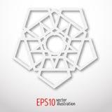 Обрядовый символ геометрии Белый логотип для веб-дизайна Стоковая Фотография RF