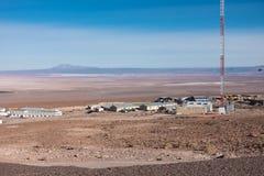 Обсерватория АЛЬМЫ, пустыня Atacama, Чили Стоковое фото RF