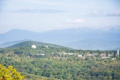 Обсерватория в горах Стоковое Фото