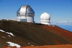 Обсерватория на Mauna Kea, высокой точке положения Гаваи Стоковое Изображение RF