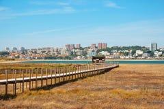 Обсерватория птицы в реке od Дуэро природного парка, Порту Стоковое Фото