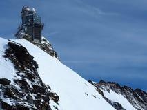 Обсерватория сфинкса, плато Jungfrau, швейцарец Альпы, Швейцария Стоковые Изображения