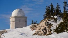 Обсерватория телескопа в Боснии, горе Jahorina Стоковые Фотографии RF