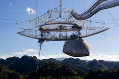 обсерватория arecibo стоковые фото