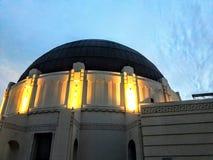 Обсерватория Griffith Park в Лос-Анджелесе Стоковые Фотографии RF