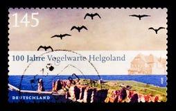 Обсерватория Helgoland птицы, столетие serie института Helgoland Ornithological, около 2010 стоковые изображения