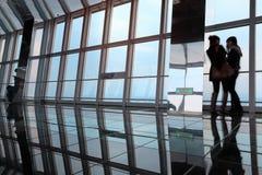 обсерватория highrise сумрака здания Стоковые Фото