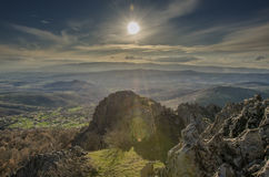 Обсерватория Kokino старая в македонии Стоковые Изображения RF