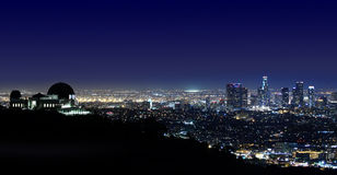 Обсерватория Los Angeles Los Angeles Griffith, CA Стоковая Фотография