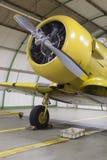 Обслуживание авиационного двигателя Стоковые Изображения