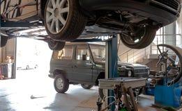 Обслуживание автомобиля внутрь Стоковая Фотография