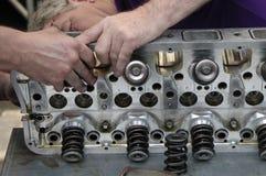 обслуживание двигателя стоковая фотография rf