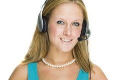 обслуживание девушки клиента стоковая фотография