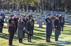Обслуживание день памяти погибших в первую и вторую мировые войны, гоньба Cannock Стоковое фото RF