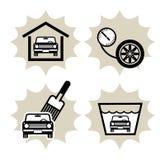 обслуживание иконы автомобиля иллюстрация штока