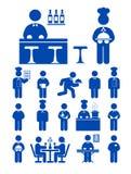 обслуживание иконы еды Стоковое фото RF
