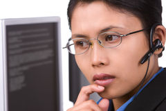 обслуживание клиента слушая Стоковые Изображения RF