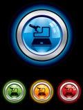 обслуживание кнопки лоснистое Стоковые Фото