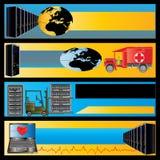 обслуживание компьютера знамен Бесплатная Иллюстрация