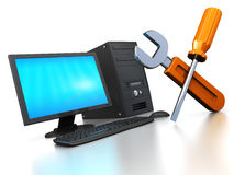 обслуживание компьютера Стоковые Изображения