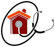обслуживание логоса дома иллюстрация штока