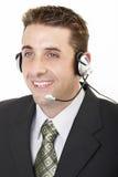 обслуживание мужчины 2 клиентов Стоковое фото RF