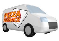 обслуживание пиццы иллюстрация штока