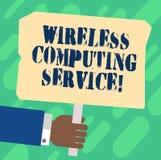 Обслуживание радиотелеграфа текста почерка вычисляя Компания смысла концепции которая предлагает обслуживаниям трансмиссии руку а иллюстрация штока