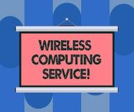 Обслуживание радиотелеграфа текста почерка вычисляя Компания смысла концепции которая предлагает обслуживания трансмиссии для тог иллюстрация вектора