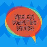 Обслуживание радиотелеграфа текста почерка вычисляя Компания смысла концепции которая предлагает обслуживания трансмиссии для тог бесплатная иллюстрация