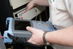 обслуживание соединения волокна оптическое Стоковое Изображение RF