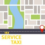 Обслуживание такси Положение на карте такси иллюстрация вектора