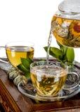 Обслуживание чая глины Стоковая Фотография RF