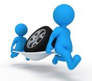 обслуживание человека автомобиля иллюстрация вектора