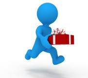 обслуживание человека подарка иллюстрация штока