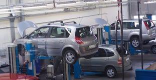 обслуживание 3 автомобилей стоковое изображение rf
