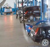 обслуживание 7 автомобилей Стоковые Фото