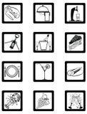 обслуживания серии ресторана иконы первоклассной гостиницы Стоковое Изображение