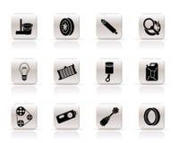 обслуживания частей икон автомобиля просто бесплатная иллюстрация