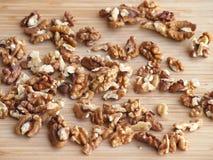 Обстреливаемые семена грецкого ореха Стоковое Фото
