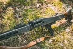 Обстреливанный пулеметным огнем MG 42 7 генерал 92x57mm Mauser Стоковые Фото