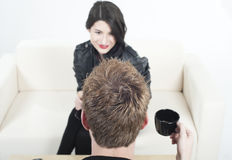 обсудите подросток стороны сидя к Стоковые Фотографии RF