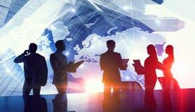 Обсуждать политику международного партнерства Мультимедиа Стоковое Фото
