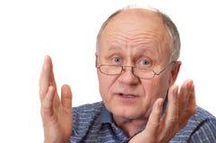 обсуждать gest старший человека стоковые изображения rf
